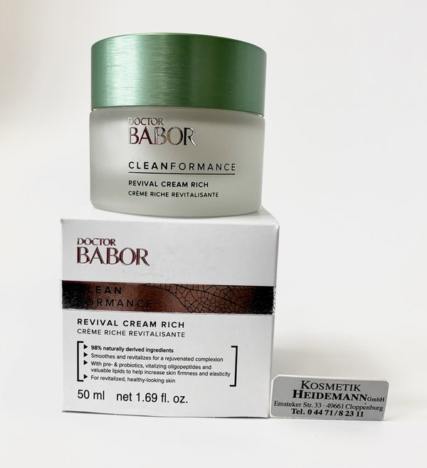Doctor Babor CLEANFORMANCE Revival Cream Rich  (50ml)