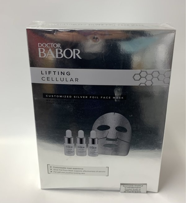 Doctor Babor Lifting Cellular Customized Silver Foil Face Mask